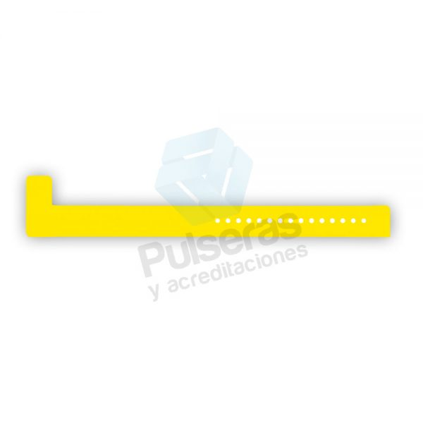 pulsera amarillo neon