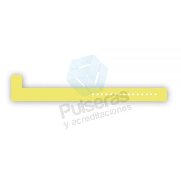 pulsera vinilo amarillo