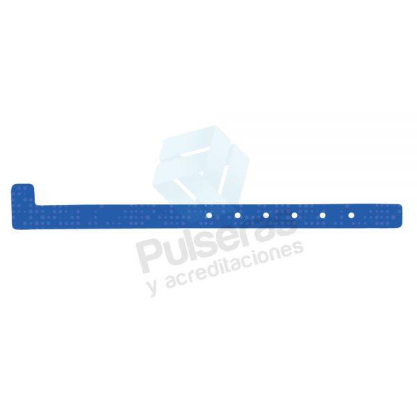 pulsera plastico azul