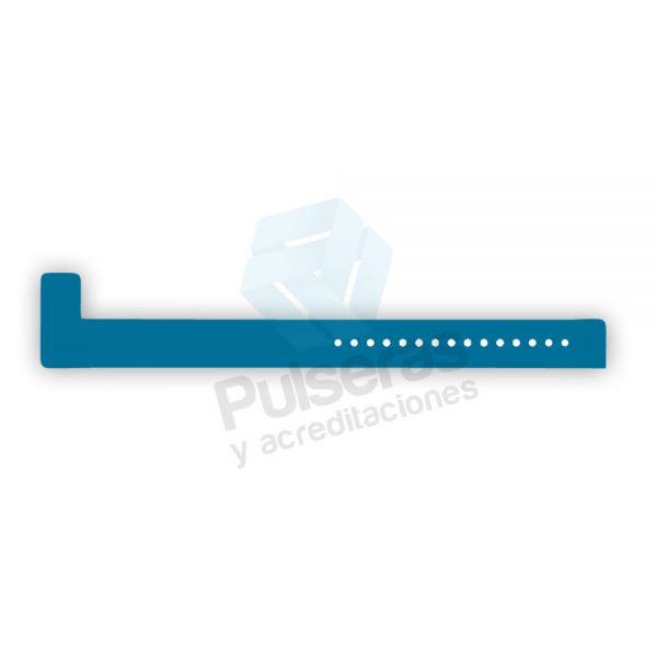 pulsera vinilo azul