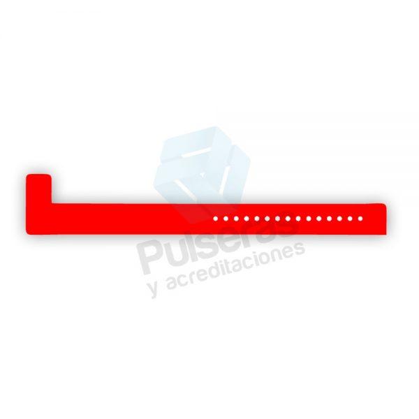 pulsera vinilo rojo