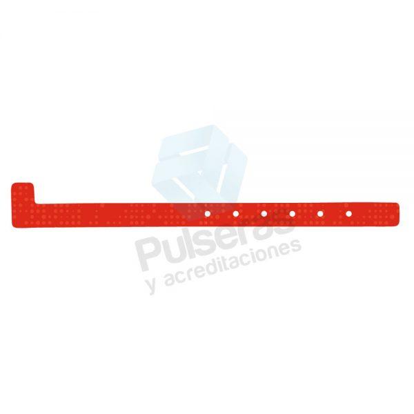 pulsera plastico rojo