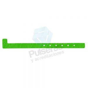 pulsera plastico verde
