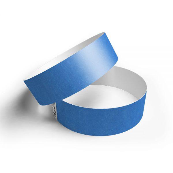 Pulsera de papel tyvek azul