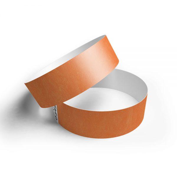 Pulsera de papel tyvek naranja