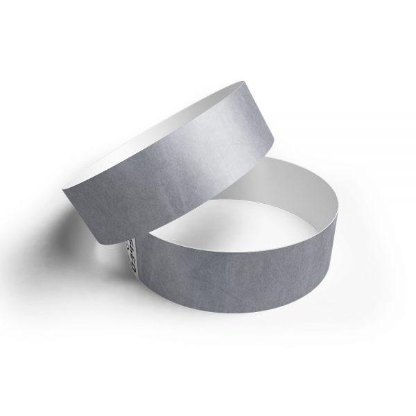 Pulsera de papel tyvek plata