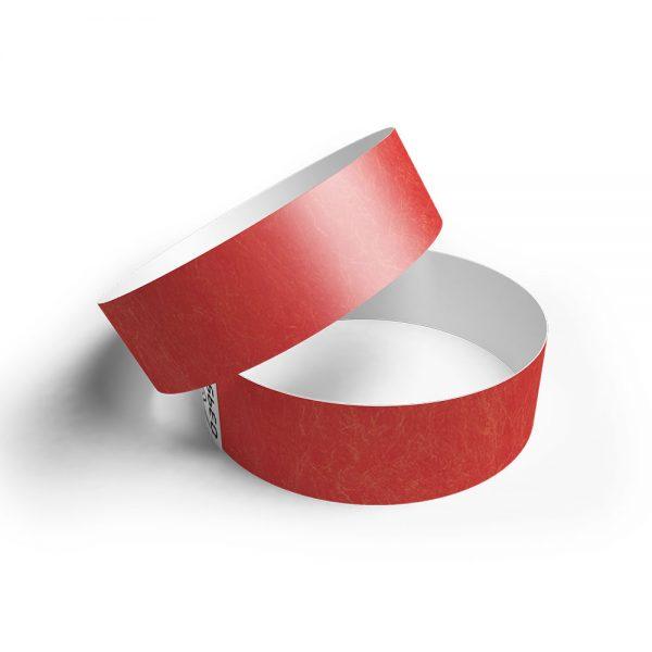 Pulsera de papel tyvek rojo