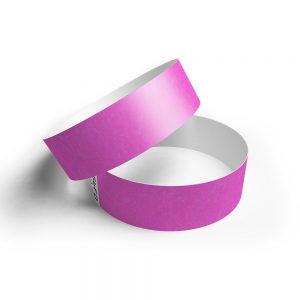 Pulsera de papel tyvek rosa fluor