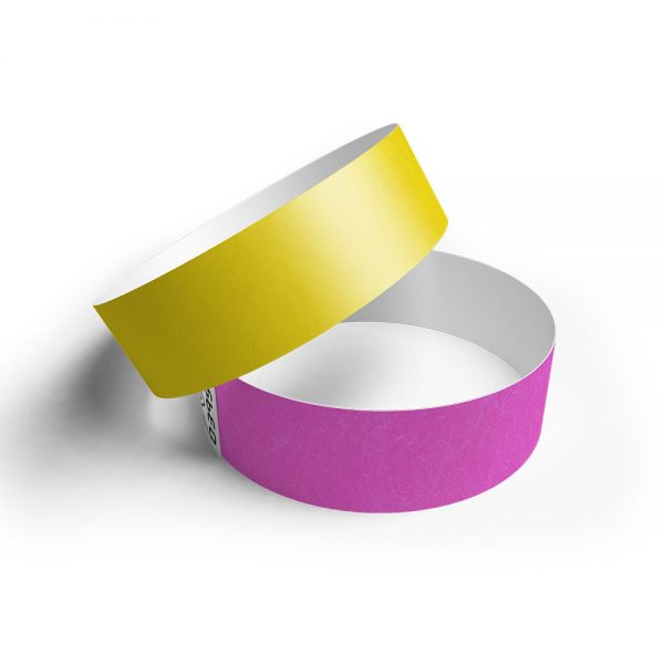 Pulsera de papel tyvek varios colores