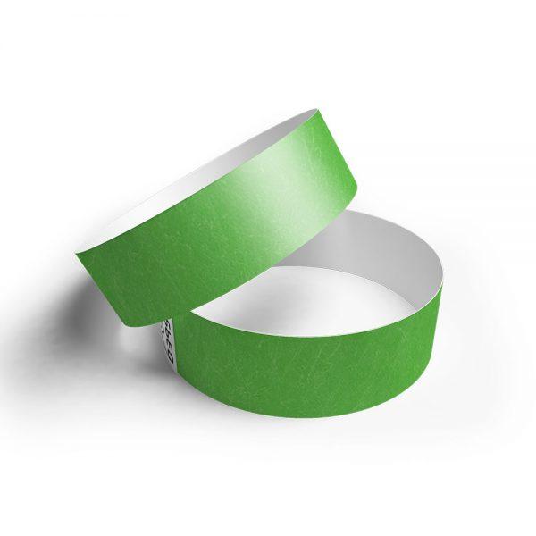 Pulsera de papel tyvek verde